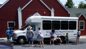 YF Washing Shiloh's Van